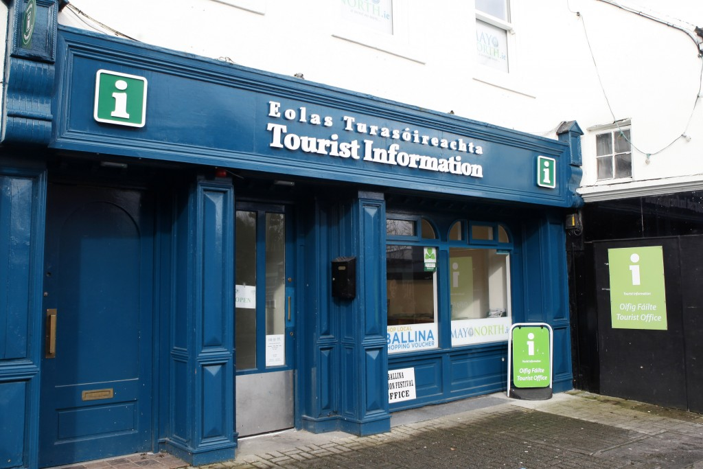 Ballina Tourist Office, Chamber Offices Mayo North Promotions Office, Ballina Co Mayo along the Wild Atlantic Way