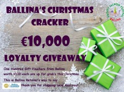 Christmas Cracker Bonanza Draw in Ballina