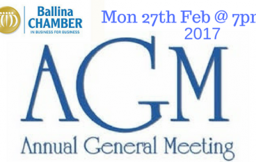 Ballina Chamber announces date for AGM 2017