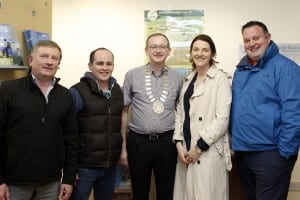 Ballina Chamber of Commerce President Paul Regan and members
