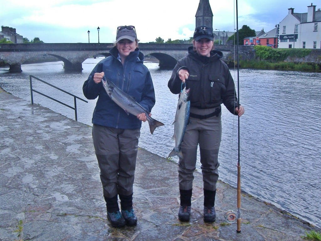 Sisters Dara & Bronagh Murphy from Dublin with their Ridge Pool catch