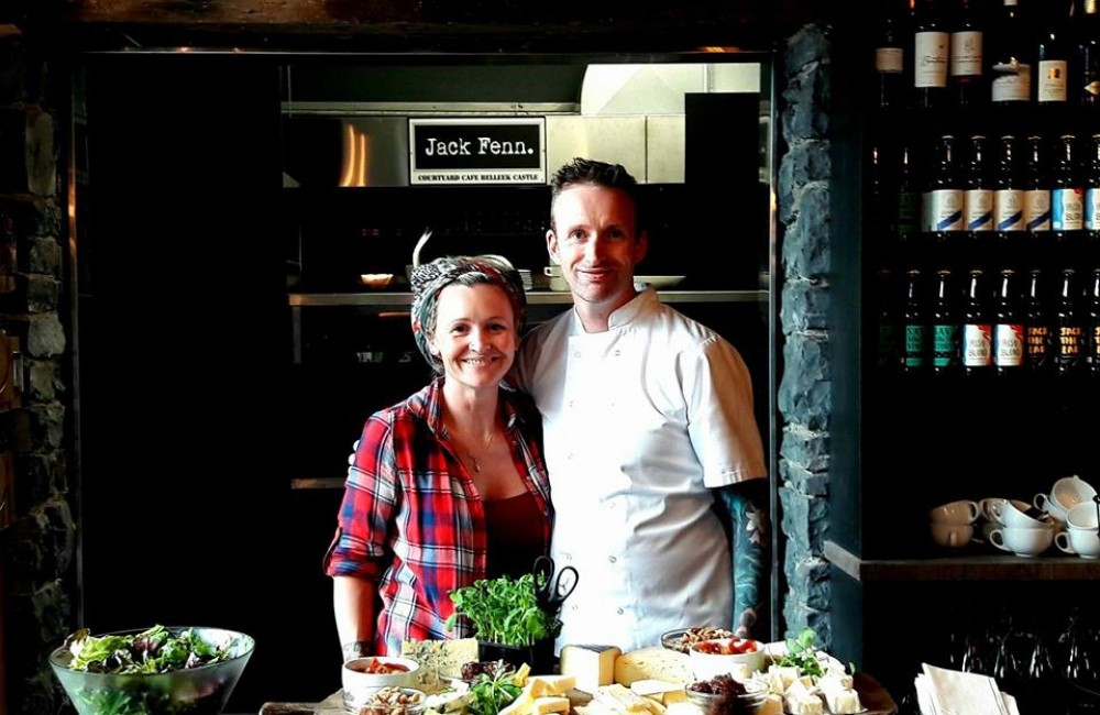 Jack Fenn's with Chefs Stephen and Lilly