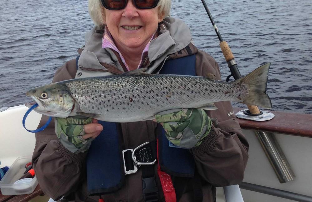 Annie Taylor, UK, with a fine Moy Estuary Sea Trout