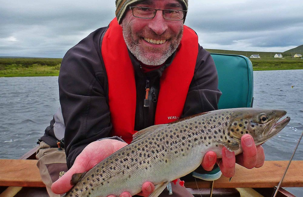 A very happy Paul O'Reilly, Navan, with one of his many fine Carrowmore sea trout