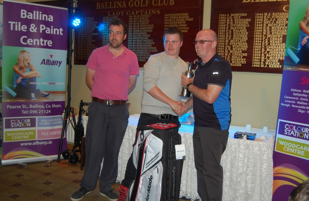 Photo 1 – Peter James Adult Comp Winner Caption: Peter James Winner of the Albany Open, Adult 18 Hole Competition on Saturday 13th August 2016. With John Slater, Host and Sponsor, Albany Ballina Tile & Paint and Keith Cunningham