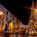 Ballina Town Centre at Christmas, a;long the Wild Atlantic Way