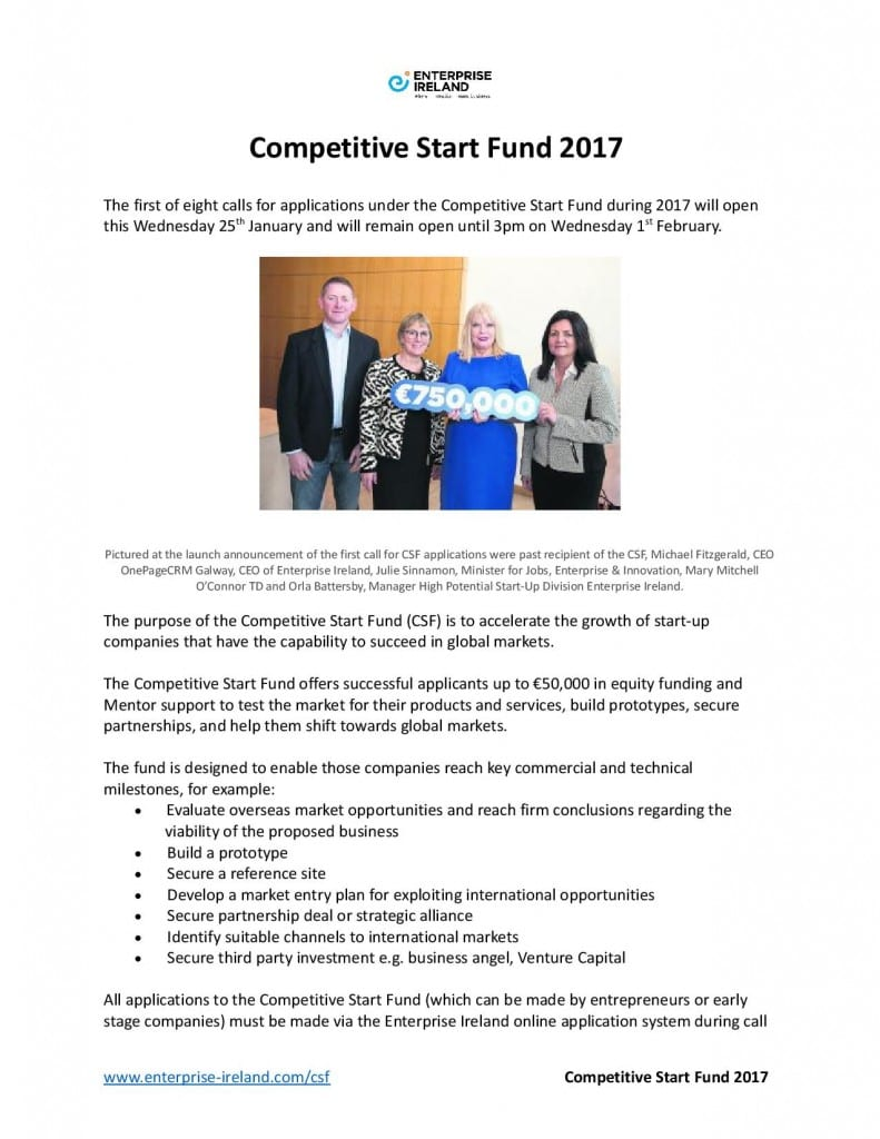 Competitive Start Fund 2017