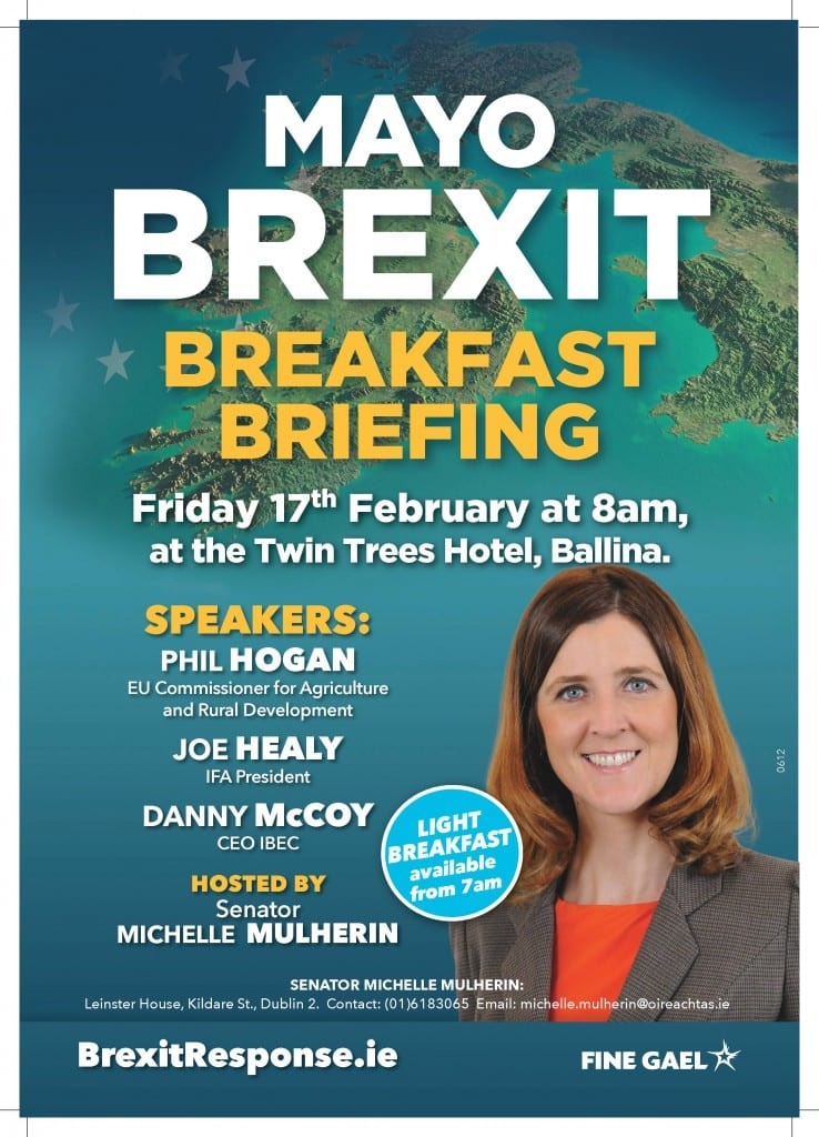 Brexit Breakfast Briefing in Ballina