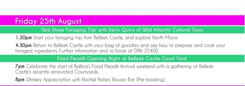 Food Fleadh Ballina Co Mayo along the Wild Atlantic Way