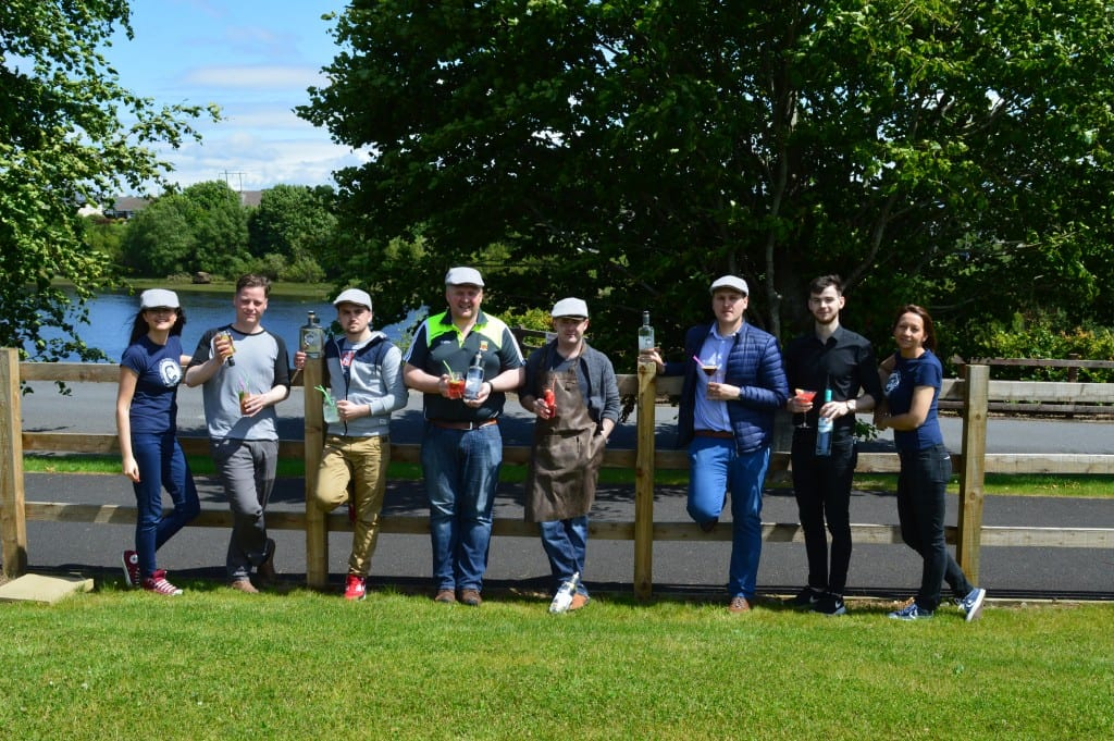 Mixologists at Connacht Whiskey Distillery, Food Fleadh Ballina Co Mayo along the Wild Atlantic Way