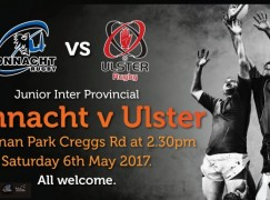 Ballina RFC hosts Junior Inter Provincial Match Saturday 6th May
