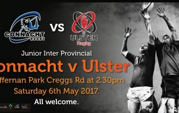 Ballina RFC hosts Junior Inter Provincial Match Saturday 6th May