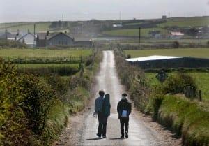 Author Brian Leyden and Musician Seamie O'Dowd. Photo Brian Farrell