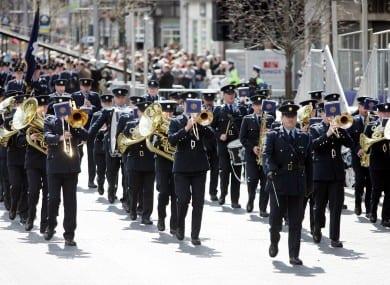 Garda-Band returns to play the Ballina Salmon festival, Ballina Co mayo along the Wild Atlantic Way