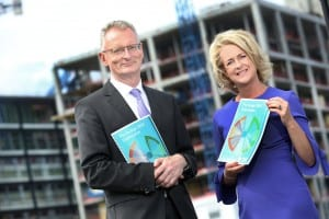 Chambers Ireland's Chief Executive Ian Talbot and President Niamh Boyle at the launch of Chambers Ireland Pre-Budget Submission calling for increased investment in infrastructure and measures to mitigate Brexit challenges.