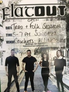 Flat out takes up Sunday afternoon residency at Crockets on the Quay
