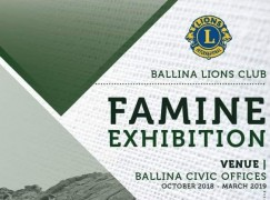 Invitation to Open Evening at Ballina Lions Club's Famine Exhibition