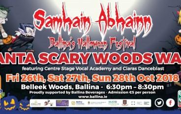 Halloween Spooks visits Ballina Co Mayo along the Wild Atlantic Way