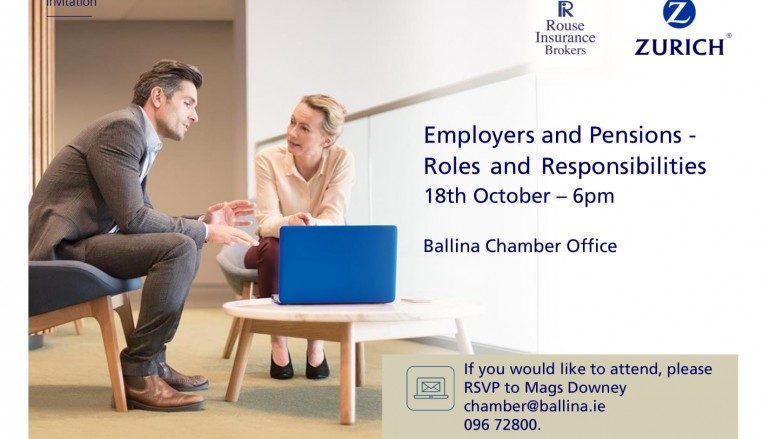 Ballina Chamber hosts Employers and Pensions Seminar