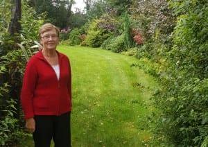 A proud Carmel Murray in her perfect garden