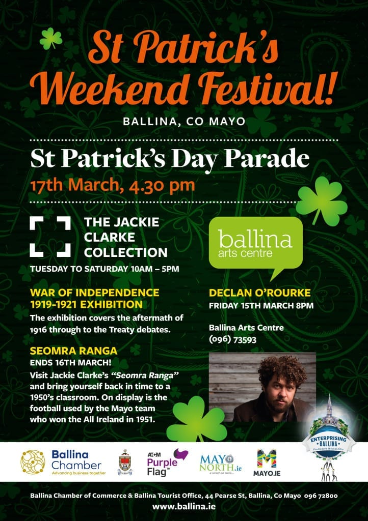 St Patrick's day festival events in Co Mayo